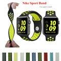 Marca esporte silicone banda strap para apple watch nike 42mm 38mm pulseira relógio de pulso banda pulseira para iwatch 2/1 acessórios