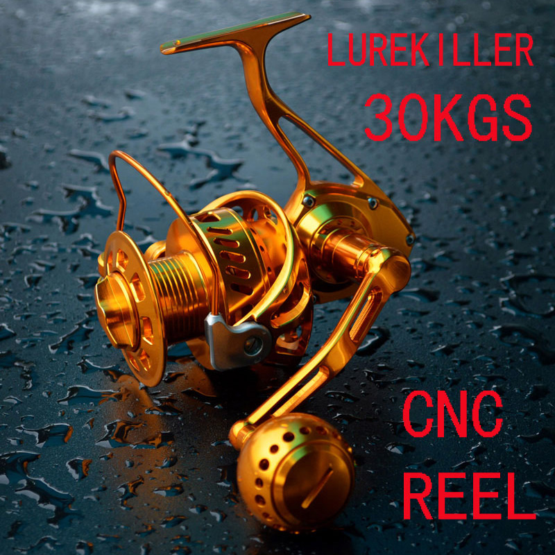 Lurekiller Shark 6000 30KGS 11BB CNC Body Full Metal Salterwater Jigging Fishing Reel Spinning Reel  Popping Reels Anti-Rust