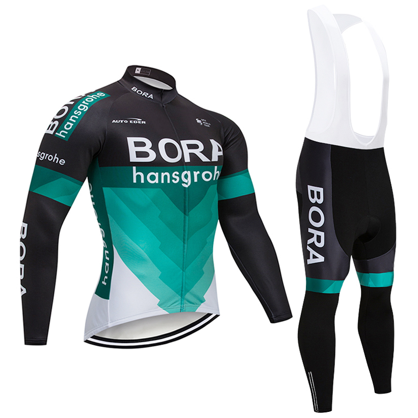 Winter 2018 TEAM BORA cycling jersey 9D bike pants Ropa Ciclismo Men Windproof Thermal fleece Bicycling Maillot Culotte wear pocket side belted culotte pants