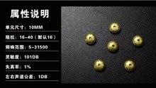 10mm speaker unit 1pair=2pcs