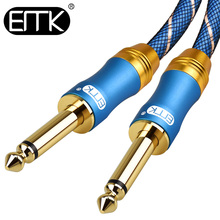 цены на EMK 6.5mm Jack Audio Cable Nylon Braided 6.35 Mono Jack Male to Male Cable 1m 2m 3m 5m for Guitar Mixer Amplifier Bass 6.35 mm  в интернет-магазинах