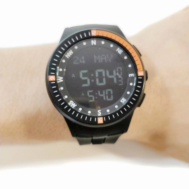 Azan Smart Watch for Muslim Prayer with Alfajr Time 35mm 3Bar Waterproof Neon Color Waterproof Azan Wristwatch Clock with Qibla