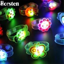 1pcs Cartoon LED Night Light Party Xmas Decoration Colorful LED Watch Toy Boys Girls Flash Wrist