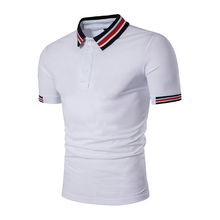 New Summer Men Polo Shirt Solid Casual Short Sleeve Men's Cotton Polos Stand Collar Striped Male Poloshirt Fashion Tee brand men summer short sleeve 3d print 95%cotton high quality casual fashion polo shirt stand collar button male