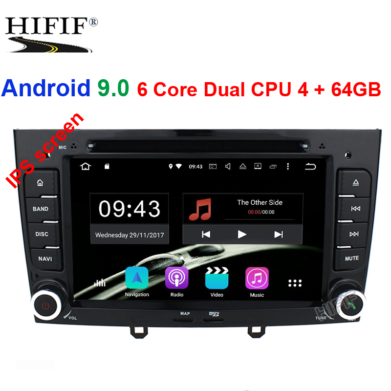 IPS 6 Core Dual CPU 4+64G Android 9.0 Car DVD Player GPS Navi for <font><b>Peugeot</b></font> 408 for <font><b>Peugeot</b></font> 308 <font><b>308SW</b></font> Audio <font><b>Radio</b></font> Stereo Head Unit image