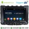 "Quad Core 7 ""1024*600 2Din Android Reproductor de DVD Del Coche de Radio Estéreo FM DAB 5.1.1 + 3G/4G WIFI GPS Map Para SsangYong Rodius 2014"