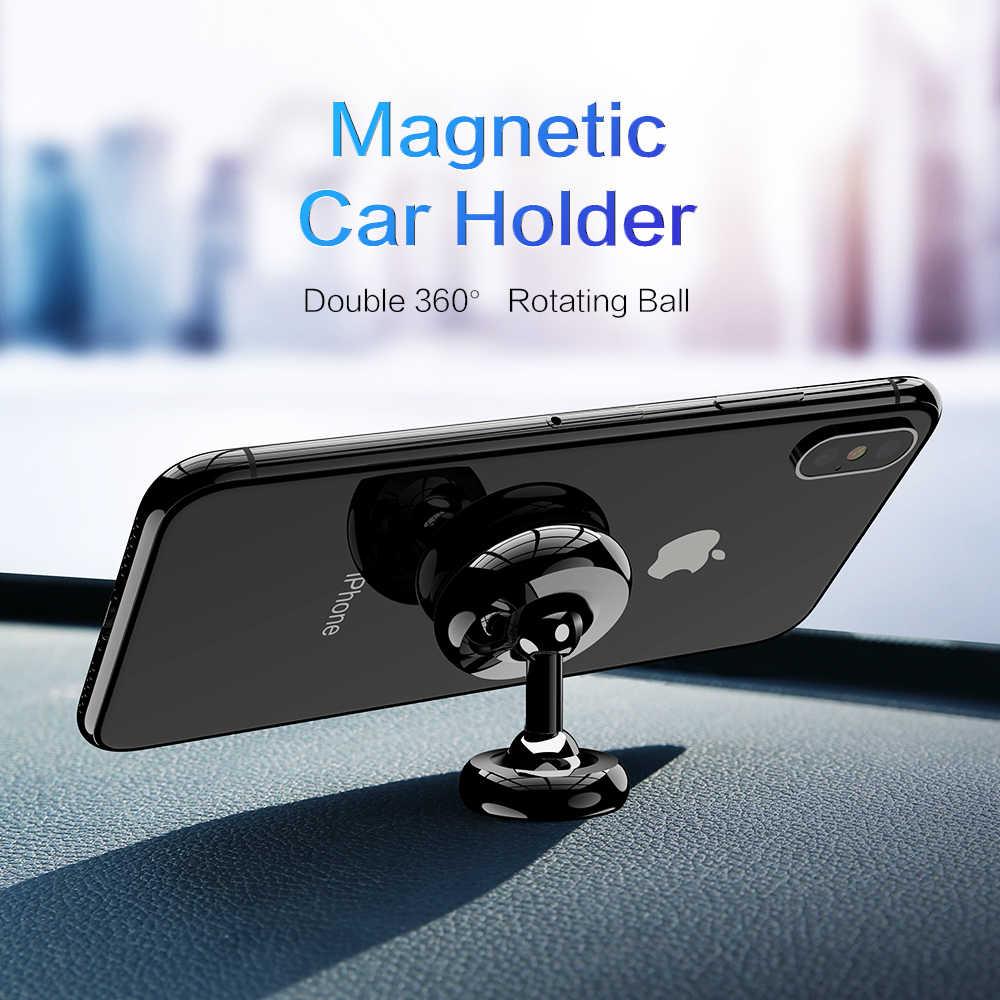 Suporte magnético do telefone do carro floveme 360 gire o suporte do painel forte para o carro do suporte do ímã do iphone