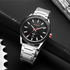 Image 4 - CURREN 2019 Watches for Men Casual Style Clock Date Quartz Wrist Watch with Stainless Steel Classic Design Round Dial 44 mm