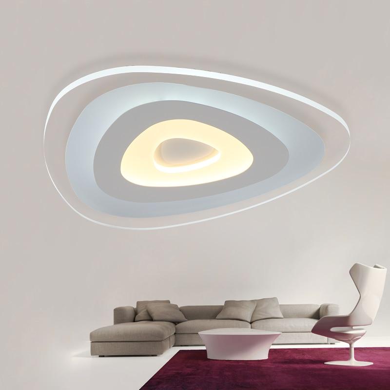 Ultra-thin Chandelier modern led living room light fixtures acrylic Chandelier lighting luminarias para teto lamparas de techo