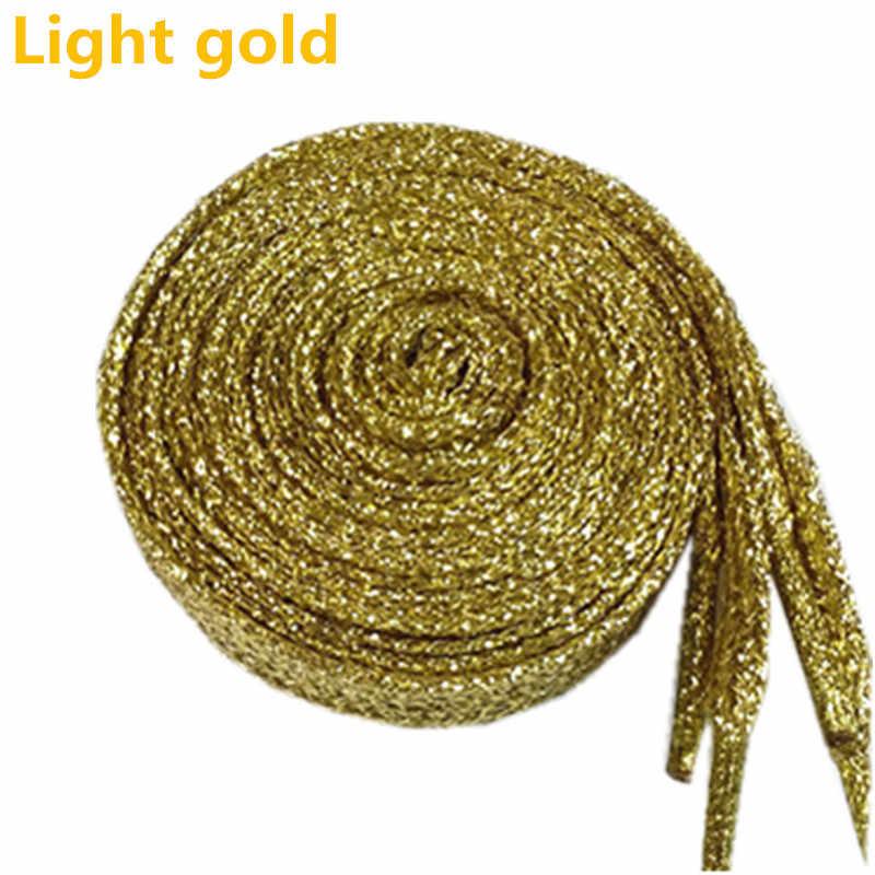 Sparkly เชือกผูกรองเท้า Shiny Glitter Shoelaces หลากสีคริสต์มาสสี Chic ส่องแสง Shoelaces