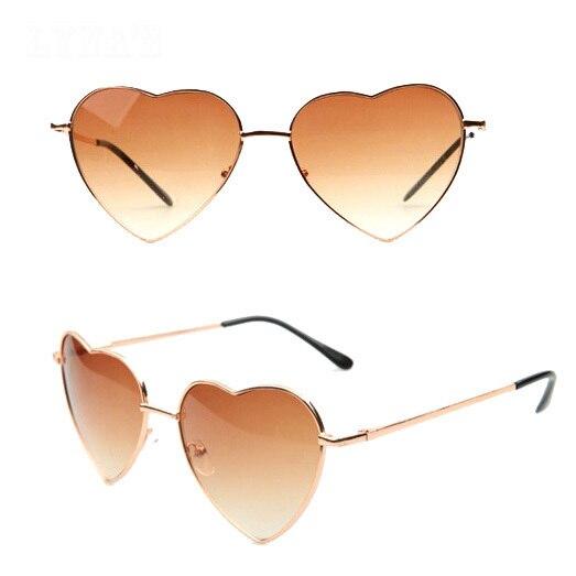 Lovely Heart Shaped Sunglasses Women Vintage shades glasses Mirror Sun glasses S-166