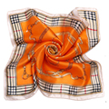 [LESIDA] Spain Euro 2016 NEW British Style The Chain Pattern Small Square Silk Checkered Scarf  Women Foulard Neck Scarves 1048