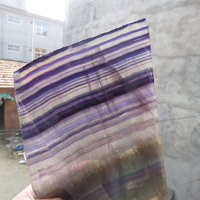1325g New Arrival RARE AAA++ Raw 100% Natural Purple Fluorite Crystal Slice Mineral Specimen Polished Reiki Healing Decoration