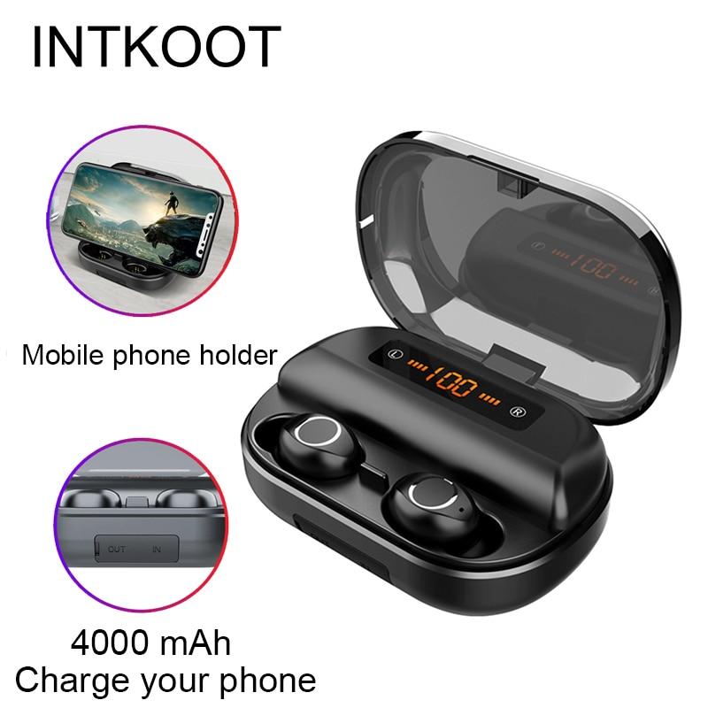 Écouteurs sans fil à commande tactile micro Mini casque sans fil Bluetooth sport stéréo jeu de musique écouteurs pour téléphones iOS Android
