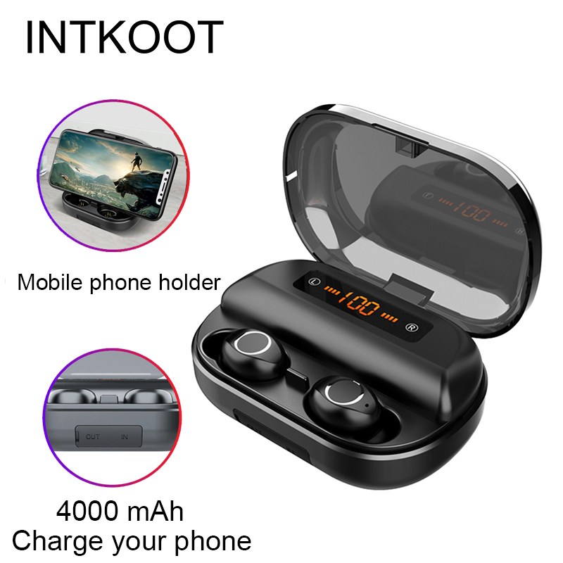 Wireless Touch Control Earbuds Mic Mini Wireless Bluetooth Headset Sports Stereo Music Game Earphone For iOS Android Phones