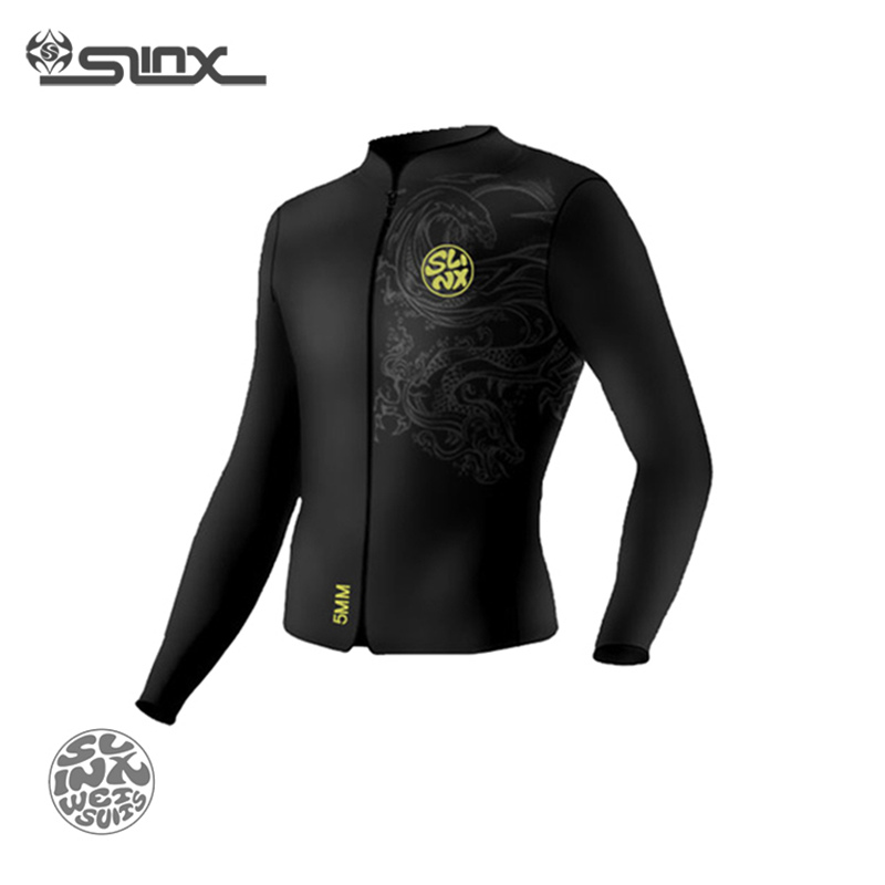 SLINX RivaRanger 1109 5mm Neoprene Scuba Diving Suit Windsurfing Swimwear Boating Snorkeling Fleece Lining Warm Jacket Wetsuit slinx discover 1106 5mm neoprene men fleece lining warm wetsuit swimming snorkeling triathlon spearfishing scuba diving suit