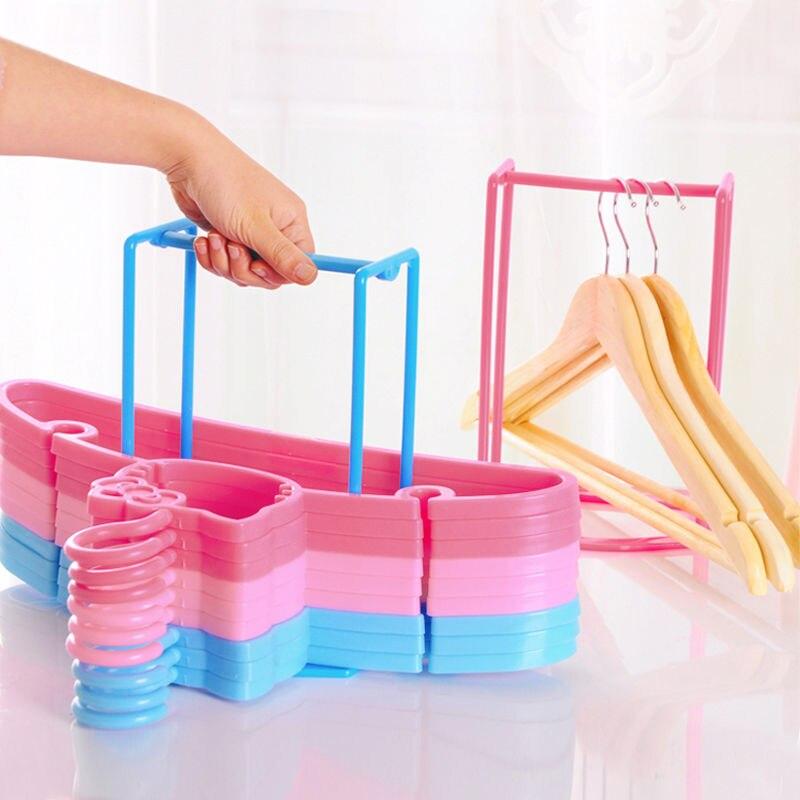Smart Design Practical Plastic Clothes Hanger Stacker Holder Storage  Organizer Rack Stand Sorting Travel Home Household Tools In Storage Holders  U0026 Racks ...