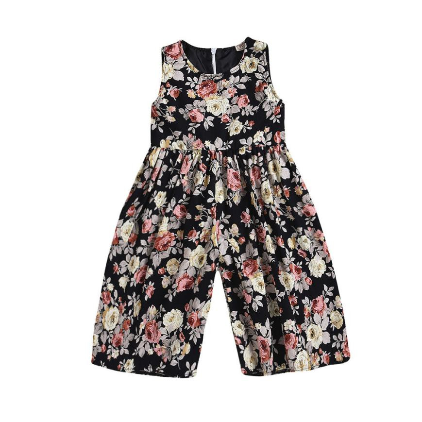 Kids Toddler baby girl clothes summer Floral Girls Outfits Clothes toddler girl romper Overall Trousers Jumpsuit baby onesie