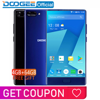In Stock DOOGEE MIX 4GB+64GB bezel less Smartphone Dual Camera 5.5'' AMOLED MTK Helio P25 Octa Core mobile phones Android 7