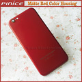 Alta Calidad Cubierta de La Cubierta Para iPhone6 6 S 6 S Plus color Rojo Mate de Metal Cubierta de La Contraportada Del Chasis Cubierta de repuesto