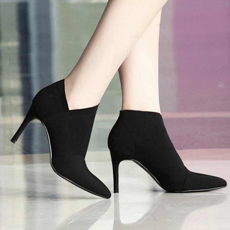 High-Heeled Boots Female Women Ladies Young Size34-41fashion L33 Large
