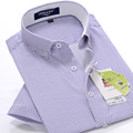 new arrvial Summer men's short-sleeved striped shirt super large formal obese hihg quality plus size M -5XL 6XL 7XL 8XL 9XL 10XL