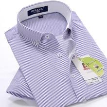 new arrvial Summer men's short-sleeved striped shirt super large formal obese high quality