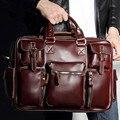 Marca 2017 sacos de Homens mensageiro saco de couro genuíno maleta homens bolsas de grife famosa marca de alta qualidade homens de negócios saco