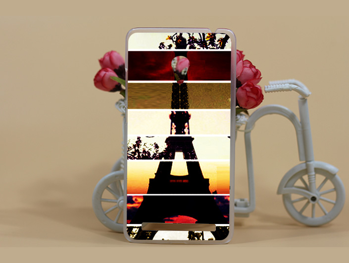 Fashion New Arroval Painting Flowers Eiffel Towers Hard PC Case Cover For <font><b>ASUS</b></font> <font><b>Zenfone</b></font> <font><b>5</b></font> <font><b>A500CG</b></font> <font><b>A501cg</b></font> Sheer Bags Free Shipping image