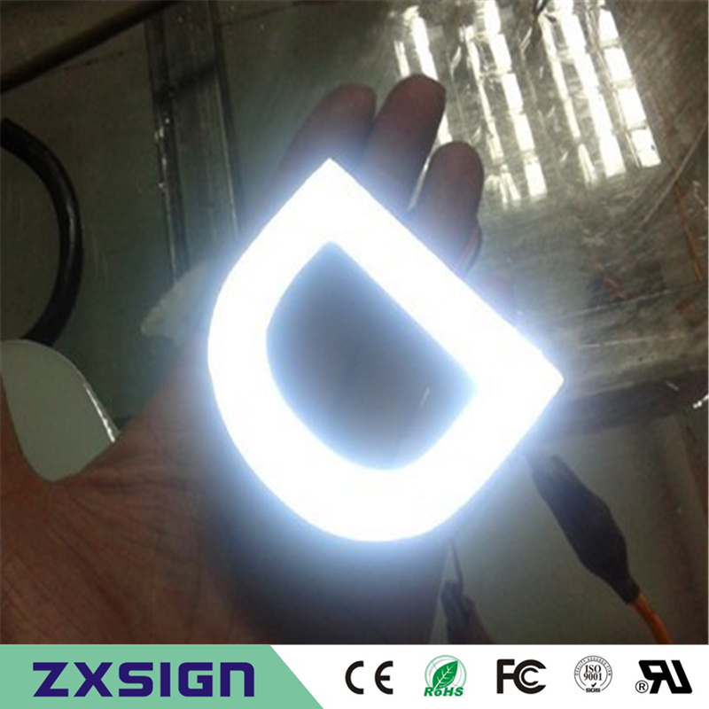 Factory Outlet Outdoor Brightest Resin Inside Stainless Steel Side & Back LED Channel Letter