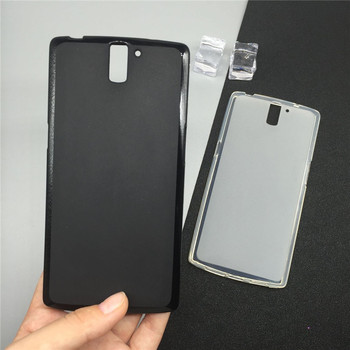 De Lujo suave cubierta de la caja del teléfono de silicona Para Oneplus 1/uno más uno A0001 Fundas protectoras posterior Coque Capa Fundas Para de Coque