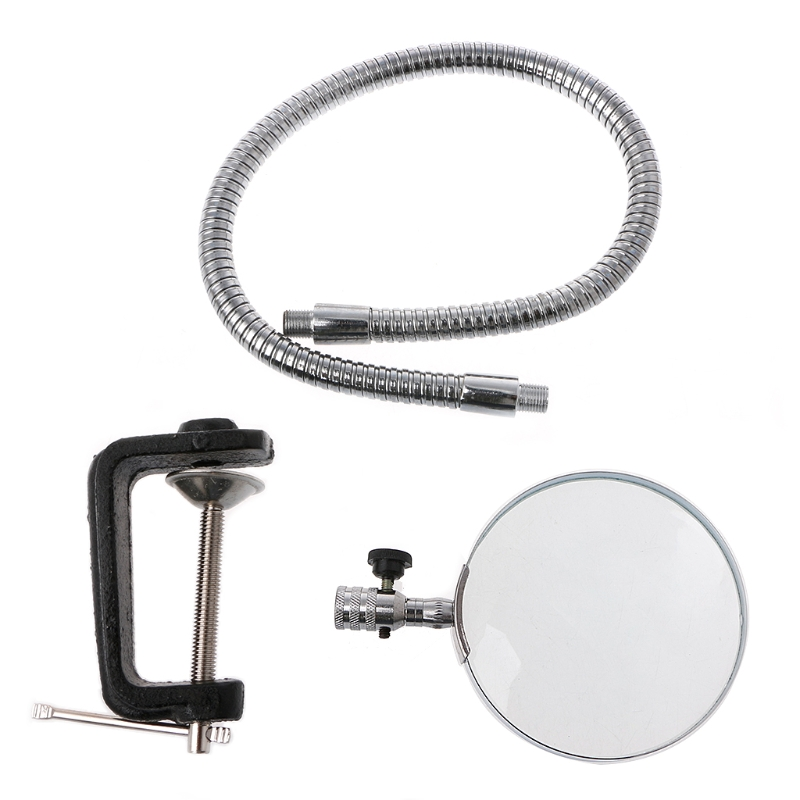 5X 100MM Desk Magnifier Table Top Magnifying Glass Adjustable Gooseneck with Clamp