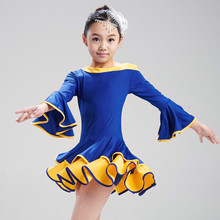 Girls Latin Dance Dress Children Fancy Dress Kids Ballroom Dance Wear Salsa Tango Rumba Cha Cha Costume