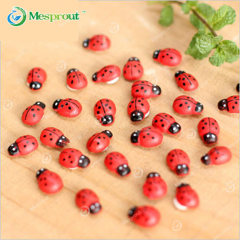 Cute Wall Stickers Wooden Ladybug Insect Sticker Fridge Magnets ...
