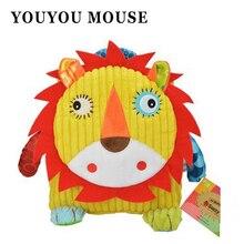 YOUYOU MAUS Niedlichen Tier Figur Tasche Kid Plüsch Schule Rucksäcke Kind mädchen Jungen Geschenke Spielzeug Eule Kuh Frosch Löwe Affe Schultasche