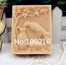 New Product!!1pcs Drinking Crow(zx193) Food Grade Silicone Handmade Soap Mold Crafts DIY Mould