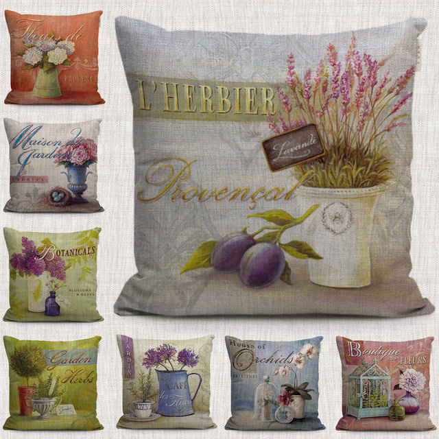 Europe vintage rural garden decorative pillows covers jardin