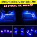 Автомобиль Стайлинг 4x3LED Синий Свет Автомобиля Декоративные Огни Атмосфера Лампы Автомобильные Декоративные Освещение Путь 4in1 Ночные Огни