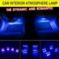 Car Styling 4x3LED Blue Light Car Decorative Lights Atmosphere Lamp Car Decorative Interior Lighting Pathway 4in1 Night Lights