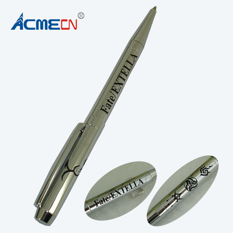 все цены на ACMECN Hi-tech Deboss Ball Pen Unique ODM Design Office and School Stationery Ballpoint Pen Slim Turning Silver Pens Promotion онлайн