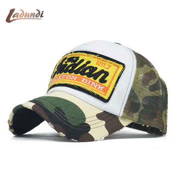 Verano Camo gorra de béisbol mujeres hombres camuflaje béisbol sombreros  Snapback hueso icon camionero Cap pentagrama papá Casquette 02ab4d346af
