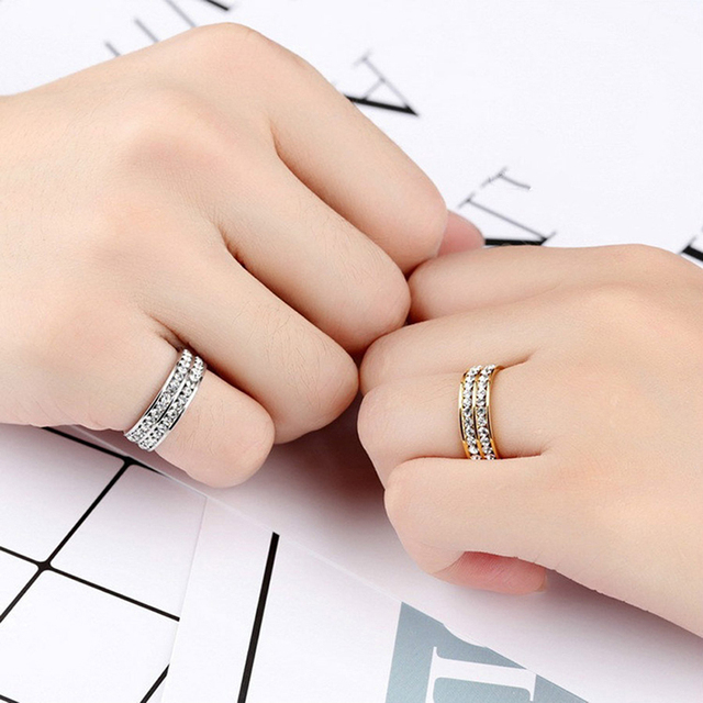 Women Fashion Slimming Healthcare Fat Burning Weight Loss Ring Anillo Mujer Bague Crystal Stainless Steel Rings Jewelry 3