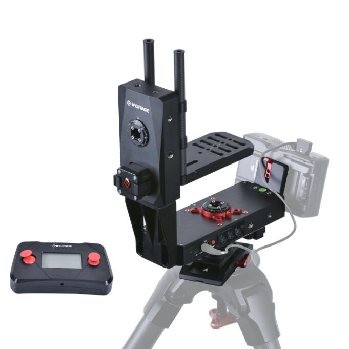 iFootage Motion X2 bundle b0 camera video 3 AXIS Mototrized Pan Tilt kit mount servos bracket Programmable Head for Shark Slider professional dv camera crane jib 3m 6m 19 ft square for video camera filming with 2 axis motorized head