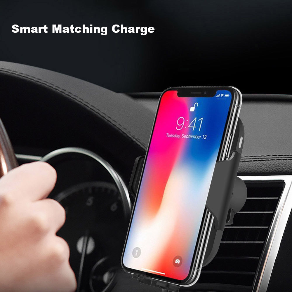 Automatic Infrared Sensor Car Fast QI Wireless Charger For Apple iPhone XS Max XR X 8 Plus Samsung  Note 9 S9 S8 xiaomi huaweiAutomatic Infrared Sensor Car Fast QI Wireless Charger For Apple iPhone XS Max XR X 8 Plus Samsung  Note 9 S9 S8 xiaomi huawei