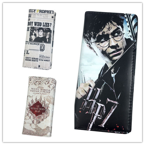 Television  Holworth school of wizardry Leather snap-fastener Three fold  wallet coin purse unisex hand bag
