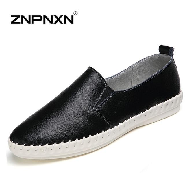 ZNPNXN Женская Обувь Женщины Обувь Из Натуральной Кожи Женщины Мокасины Квартиры Обувь Мокасин Chaussures Femme Поскользнуться На