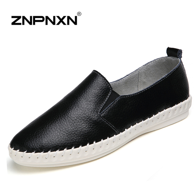 ZNPNXN Women Shoes Woman Genuine Leather Shoes Women Loafers Flats Shoes Mocassin Chaussures Femme Slip On