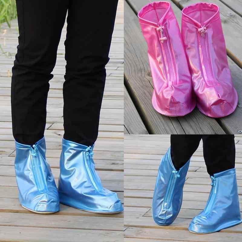 Erkekler kadın Yağmur su geçirmez botlar Kapak Topuklu Çizmeler Kullanımlık Ayakkabı Kapakları Yüksek Kaliteli Kalın kaymaz Platformu yağmur çizmeleri