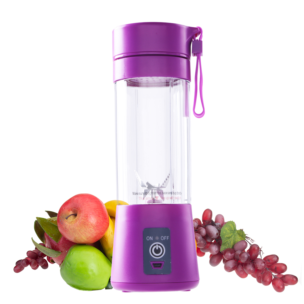 Portable Juice Blender USB Juicer Cup Multi-function Fruit Mixer Six Blade Mixing Machine Smoothies Baby Food dropshipping 400ML