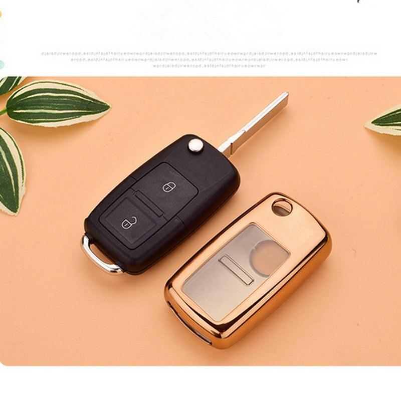 cheapest Hight quality Tpu key case cover Key case shell holder for Vw Jetta Golf Bora POLO Passat For Skoda Octavia A5 Fabia SEAT Ibiza